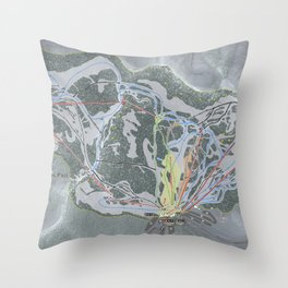Stevens Pass Trail Map Throw Pillow