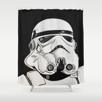 stormtrooper Shower Curtains featuring Stormtrooper by Laura-A