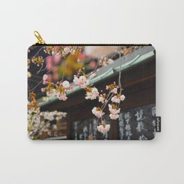 Japanese Calligraphy Shinto Shine With Pretty Cherry Blossoms Ancient Feudal Japanese Art & Culture Carry-All Pouch