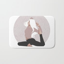 Yoga girl pink I Bath Mat