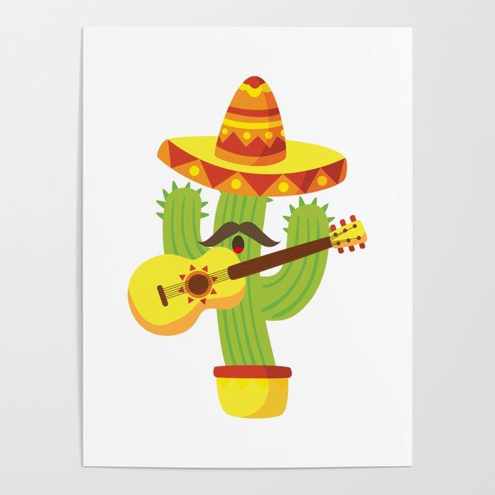 Tequila Fiesta Cinco De Mayo Funny Poster by aombin   Society6