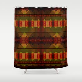 """Full Colors Tribal Pattern"" Shower Curtain"