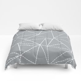 Abstract Dotted Lines Grey Comforters