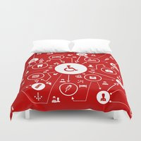 medicine Duvet Covers featuring Medicine the scheme by aleksander1