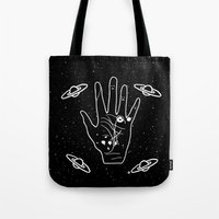 constellation Tote Bags featuring Constellation by Emmanuelle Ly