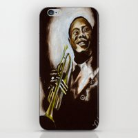 louis armstrong iPhone & iPod Skins featuring Satchmo - Louis Armstrong by Nicole Kallenberg