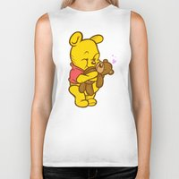 pooh Biker Tanks featuring Pooh And Teddy by Artistic Dyslexia