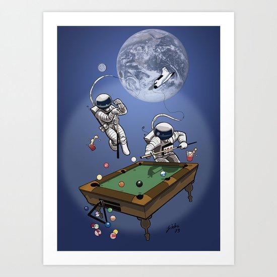 Anti-Gravity Bank Shot Art Print