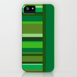Vertical and Horizontal Stripes Green iPhone Case