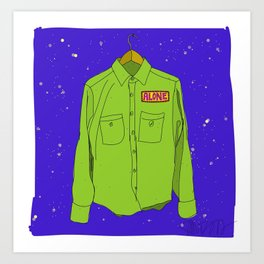 """Alone Shirt""  Art Print"
