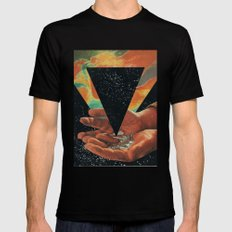disruption of his world... (Paradise) Mens Fitted Tee MEDIUM Black