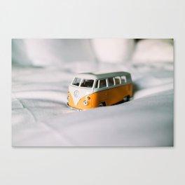 Vintage Yellow Bus Canvas Print