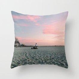 Cotton Candy Skies Throw Pillow