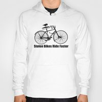 bikes Hoodies featuring stolen bikes... by Seamless