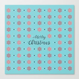 Merry Christmas BLUE Canvas Print