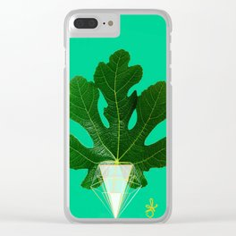 Fig Leaf Diamond Christmas Tree Clear iPhone Case