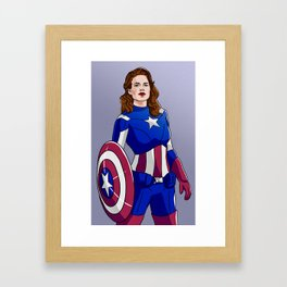 Peggy Cap Framed Art Print