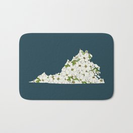 Virginia in Flowers Bath Mat