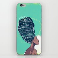 erykah badu iPhone & iPod Skins featuring Erykah Badu by Dushan Milic