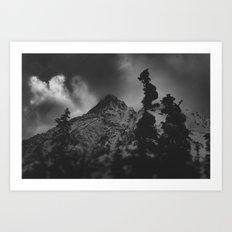 December Mountain Art Print