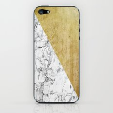 Marble vs GOld iPhone & iPod Skin