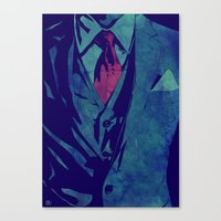 gentleman Canvas Prints featuring Gentleman by Giuseppe Cristiano
