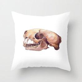 Skunk Skull Throw Pillow