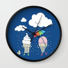 Cloudy With A Chance of Sprinkles Wall Clock