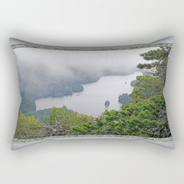 MOUNTAIN LAKE ON A MISTY DAY Rectangular Pillow