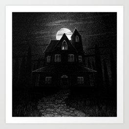 Drawlloween 2104: Haunted House Art Print