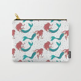 Red Haired Mermaids Pattern Carry-All Pouch