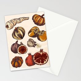 Fall Produce Stationery Cards