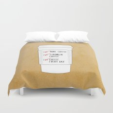 (More) Coffee Duvet Cover