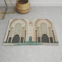 Mosque Hassan II in Casablanca, Morocco Rug