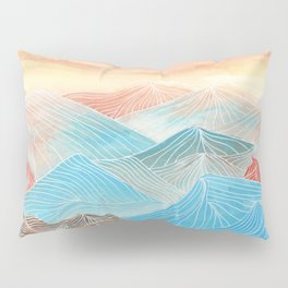 Lines in the mountains XX Pillow Sham