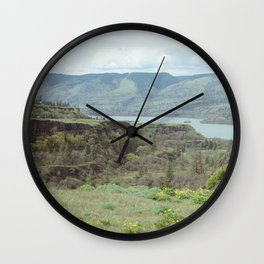 Tom McCall Preserve Looking Out at The Columbia River Gorge Wall Clock