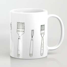 Paint Brush Illustration  Coffee Mug