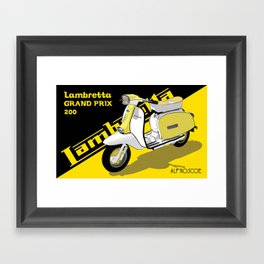 Yellow & Black Lambretta Scooter Framed Art Print