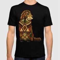 Golden Retriever ivory Mens Fitted Tee Black LARGE