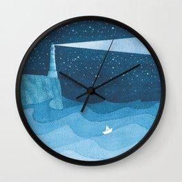Lighthouse illustration Wall Clock