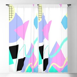 80s Retro Memphis Art Ugly Sweater Blackout Curtain