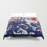 free shipping Duvet Covers featuring Black and red  by Ordiraptus