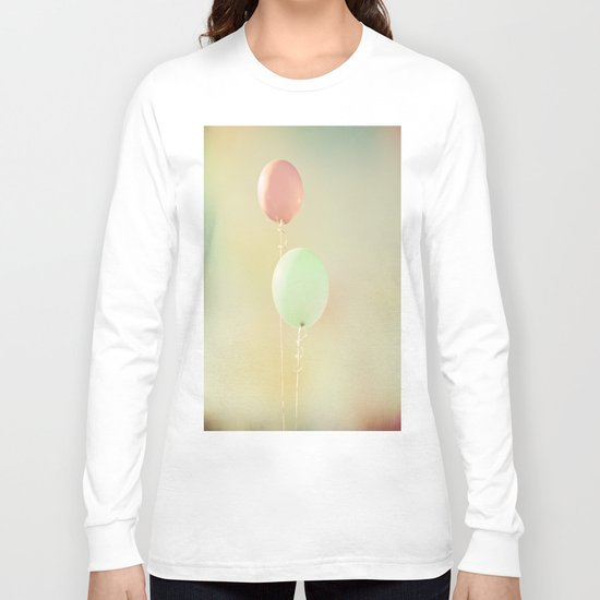 Balloons in Tie-Dyed Sky Long Sleeve T-shirt