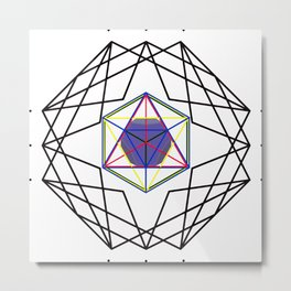 Sacred Geometry - Platonic Solids Structure Metal Print