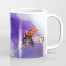 Ladybird on violet Mug