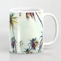 palm Mugs featuring Palm by Sol&Co