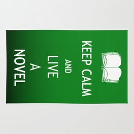 Keep Calm & Live a Novel Rug