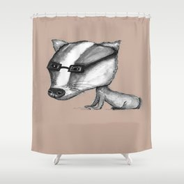 NORDIC ANIMAL - BENITO THE BADGER / ORIGINAL DANISH DESIGN bykazandholly  Shower Curtain