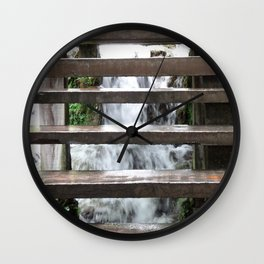 Krka Water Stairs Wall Clock