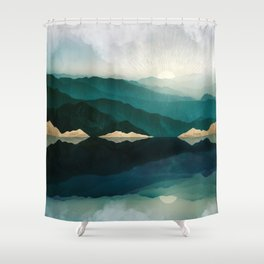 Waters Edge Reflection Shower Curtain